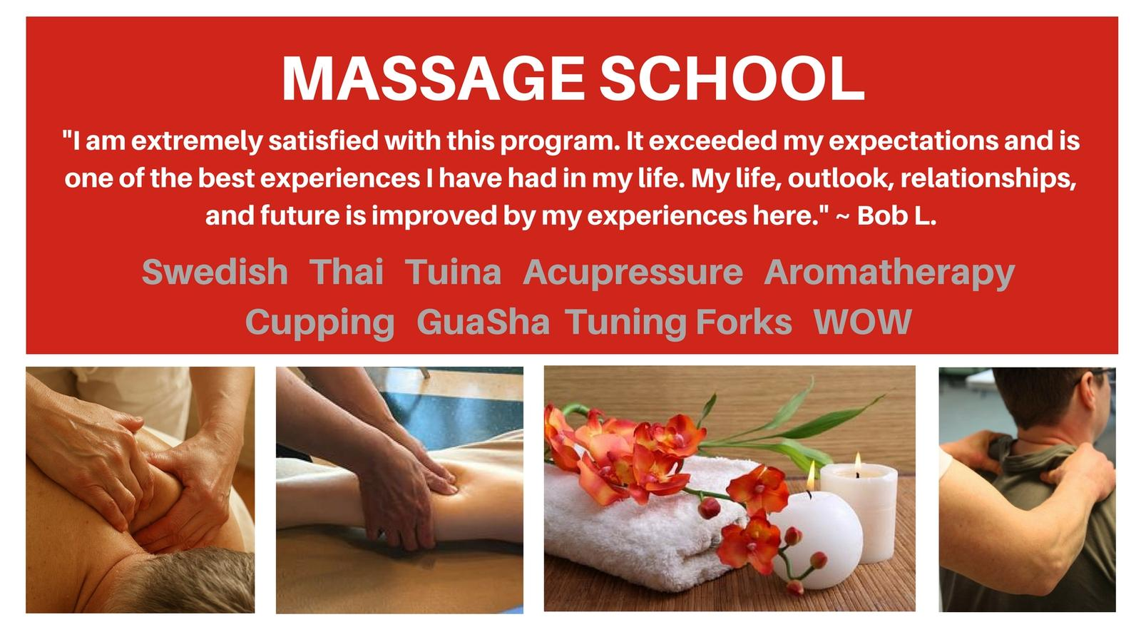 800 Hour Massage Program get a catalog Find out about tuition Classes start March 27 2017